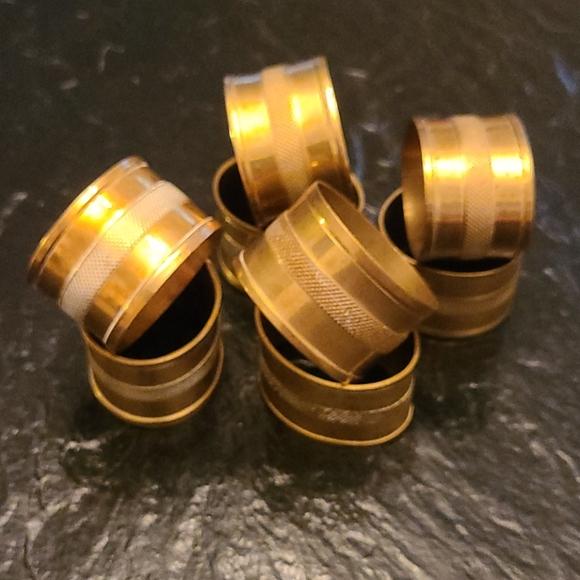 Vintage Metal Napkin Rings Set of 8